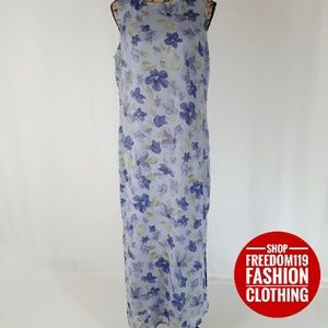 Style&Co | Long Floral Lined Sheer Maxi Dress (6)